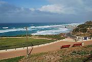 Israel, Sharon plain, Netanya, the beach from promenade