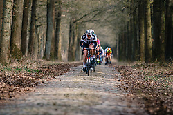 BRAND, Lucinda (NED) of Team Sunweb Women (NED) on the cobblestones of Schaapstreek during the UCI Women's WorldTour Ronde van Drenthe at Odoorn, Drenthe, The Netherlands, 11 March 2017. Photo by Pim Nijland / PelotonPhotos.com | All photos usage must carry mandatory copyright credit (Peloton Photos | Pim Nijland)