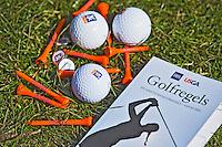 ZANDVOORT - GOLF - Stock- ILLUSTRATIEF Regelboekje . golfregels. .  COPYRIGHT KOEN SUYK