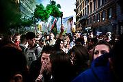 ROMA. STUDENTI DELL'UNIVERSITA' LA SAPIENZA IN CORTEO A ROMA NEL GIORNO DELLO SCIOPERO GENERALE TRANSNAZIONALE;