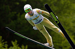 Peter Prevc (SLO) of SK Triglav Kranj during Ski Jumping Summer Continental Cup in Kranj, on July 2, 2011, in Kranj, Slovenia. (Photo by Vid Ponikvar / Sportida)