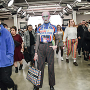 Attendees at the Graduate Fashion Week 2019 - Day Three, on 2 June 2019, Old Truman Brewery, London, UK.