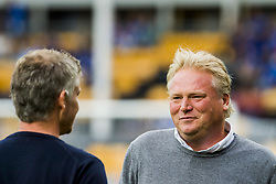 August 5, 2018 - Lillestr¯M, NORWAY - 180805 Ole Gunnar Solskj¾r, manager of Molde, and JÂ¿rgen Lennartson, head coach of LillestrÂ¿m, ahead of the Eliteserien match between LillestrÂ¿m and Molde on August 5, 2018 in LillestrÂ¿m. .Photo: Fredrik Varfjell / BILDBYRN / kod FV / 150128 (Credit Image: © Fredrik Varfjell/Bildbyran via ZUMA Press)