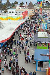 Aerial view of Santa Cruz Boardwalk, Santa Cruz, California, United States of America