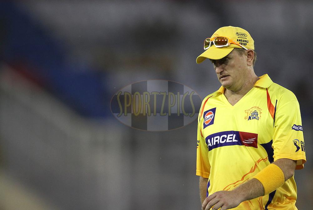 Scott Styris of the Chennai Super Kings during match 9 of the Indian Premier League ( IPL ) Season 4 between the Kings XI Punjab and the Chennai Super Kings held at the PCA stadium in Mohali, Chandigarh, India on the 13th April 2011..Photo by Shaun Roy/BCCI/SPORTZPICS