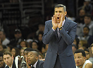 Villanova head coach Jay Wright shouts direction to his players against IUP in the first half Saturday, November 5, 2016 at the Wells Fargo Center in Philadelphia, Pennsylvania. (WILLIAM THOMAS CAIN / For The Philadelphia Inquirer)