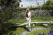 SARAH HARDING, Press view of the 2016 RHS  Chelsea Flower Show,  London.
