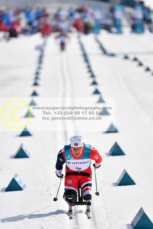 LARSEN Trygve Steinar NOR LW12 competing in the ParaSkiDeFond, Para Nordic Skiing, Sprint at  the PyeongChang2018 Winter Paralympic Games, South Korea.
