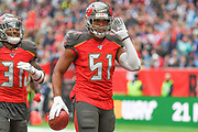 Tampa Bay Buccaneers Linebacker Kevin Minter (51)during the International Series match between Tampa Bay Buccaneers and Carolina Panthers at Tottenham Hotspur Stadium, London, United Kingdom on 13 October 2019.