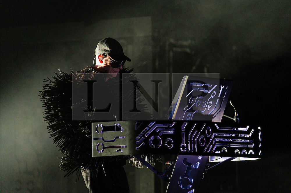 © Licensed to London News Pictures. 18/06/2013. London, UK.   Pet Shop Boys performing live at The O2 Arena - Chris Lowe in this pic. Pet Shop Boys are an English electronic pop duo, consisting of Neil Tennant, who provides main vocals, keyboards and occasional guitar, and Chris Lowe on keyboards and occasional vocals.  Photo credit : Richard Isaac/LNP