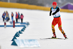 MA Mingtao CHN LW5/7 competing in the ParaSkiDeFond, Para Nordic Skiing, 20km at  the PyeongChang2018 Winter Paralympic Games, South Korea.