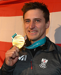 16.02.2018, Austria House, Pyeongchang, KOR, PyeongChang 2018, Medaillenfeier, im Bild Matthias Mayer // during a medal celebration of the Pyeongchang 2018 Winter Olympic Games at the Austria House in Pyeongchang, South Korea on 2018/02/16. EXPA Pictures © 2018, PhotoCredit: EXPA/ Erich Spiess