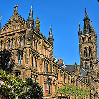 Main Building at the University of Glasgow in Glasgow, Scotland<br />
