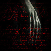 A withered hand over script