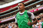 Juventus (12) Alex Sandro during the Pre-Season Friendly match between Tottenham Hotspur and Juventus FC at Wembley Stadium, London, England on 5 August 2017. Photo by Sebastian Frej.