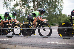 Rossella Ratto (ITA) of Cylance Pro Cycling follows her teammate's wheel during the 42,5 km team time trial of the UCI Women's World Tour's 2016 Crescent Vårgårda women's road cycling race on August 19, 2016 in Vårgårda, Sweden. (Photo by Balint Hamvas/Velofocus)