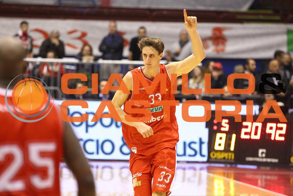 DESCRIZIONE : Milano Lega A 2012-13 EA7 Emporio Armani Milano Cimberio Varese<br /> GIOCATORE : Achille Polonara<br /> CATEGORIA : Ritratto Esultanza<br /> SQUADRA : Cimberio Varese<br /> EVENTO : Campionato Lega A 2012-2013<br /> GARA : EA7 Emporio Armani Milano Cimberio Varese<br /> DATA : 23/12/2012<br /> SPORT : Pallacanestro <br /> AUTORE : Agenzia Ciamillo-Castoria/G.Cottini<br /> Galleria : Lega Basket A 2012-2013  <br /> Fotonotizia : Milano Lega A 2012-13 EA7 Emporio Armani Milano Cimberio Varese<br /> Predefinita :