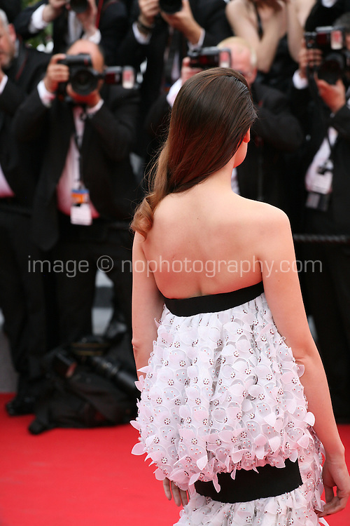 Laetitia Casta at the the Grace of Monaco gala screening and opening ceremony red carpet at the 67th Cannes Film Festival France. Wednesday 14th May 2014 in Cannes Film Festival, France.