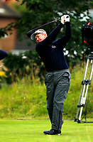 Golf - 2019 Senior Open Championship at Royal Lytham & St Annes - Fiinal Round <br /> <br /> Overnight leader Paul Broadhurst (ENG) hits drive off the 3rd tee.<br /> <br /> COLORSPORT/ALAN MARTIN