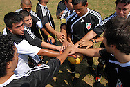 The undefeated Deportivo Colomex prepares to take on Team Shlama F.C. during National Soccer League play in Skokie, Il.