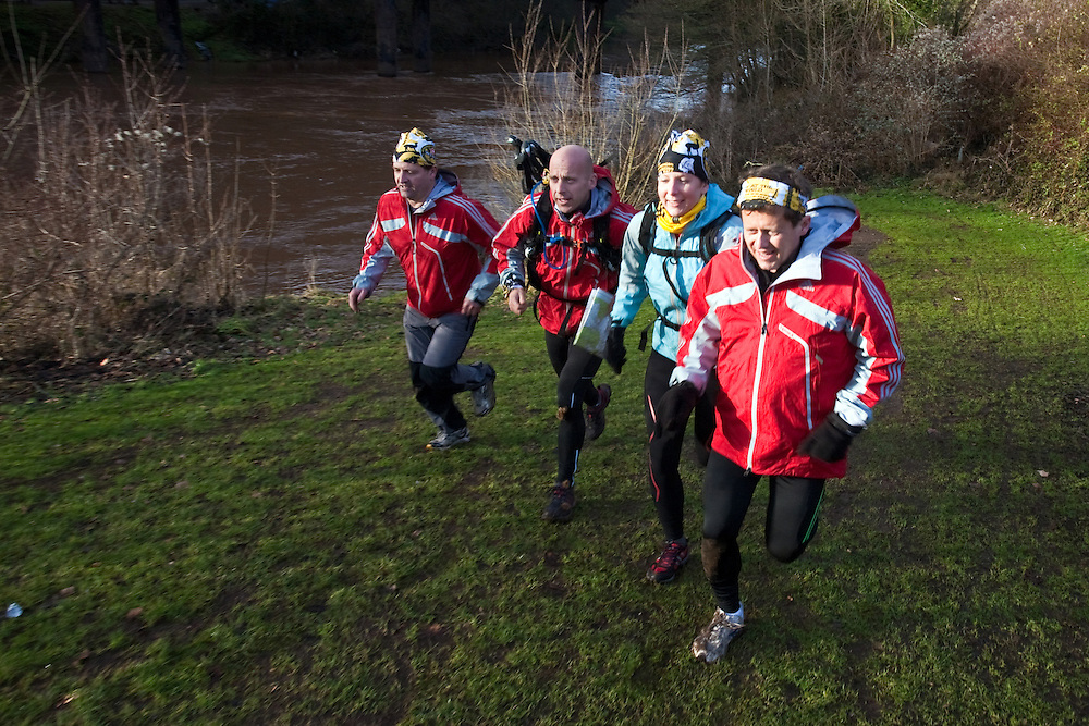 Left to Right - Richard Maddon, Nick Gracie, Fi Spotswood, Mike Bushall  at the start of  Training with AdidasTERREX on the Wenger Patagonia Expedition Race media day. 11/01/2011.Copyrighted work - Permission must be sought before use of this image..Alex Ekins +44 (0)7901 882994.