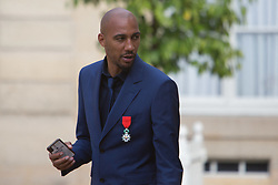 French team of football player leaves after receiving the Legion of Honour during a ceremony to award French 2018 football World Cup winners, on June 4, 2019, at the Elysee Palace in Paris. Photo by Raphael Lafargue/ABACAPRESS.COM