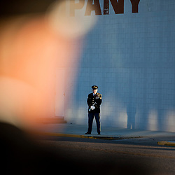 A lone bugler waits to play Taps before the Patriot Day ceremony on Sunday morning. The Nampa police and fire department held a Patriot Day ceremony to remember those who lost their lives serving their community on Sept. 11, 2001. The ceremony included the Ringing of the Last Alarm, a tradition in fire departments when there's a line of duty death. Two members of Nampa Fire Department played bagpipes and the Nampa Police Department Honor Guard raised an American flag in the front of Fire Station No. 1.  Sunday September 11, 2016