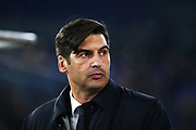 Roma head coach Paulo Fonseca on the bench before the UEFA Europa League, Group J football match between AS Roma and Wolfsberg AC on December 12, 2019 at Stadio Olimpico in Rome, Italy - Photo Federico Proietti / ProSportsImages / DPPI