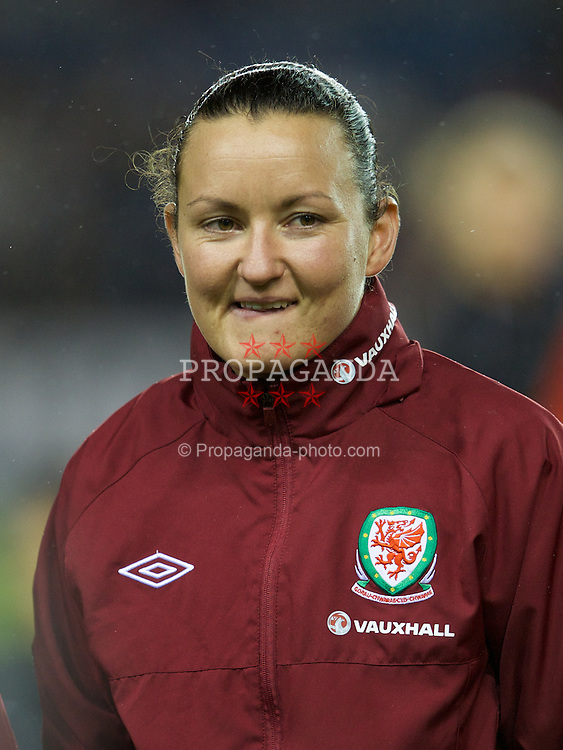 LONDON, ENGLAND - Saturday, October 26, 2013: Wales' goalkeeper Nicola Davies before the FIFA Women's World Cup Canada 2015 Qualifying Group 6 match against England at the New Den. (Pic by David Rawcliffe/Propaganda)