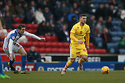 MK Dons midfielder, on loan from Brighton & Hove Albion, Jake Forster-Caskey (44)  during the Sky Bet Championship match between Blackburn Rovers and Milton Keynes Dons at Ewood Park, Blackburn, England on 27 February 2016. Photo by Simon Davies.