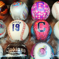 CLEVELAND, OH USA - JULY 6: Baseballs on sale before the game between the Cleveland Indians and the New York Yankees at Progressive Field in Cleveland, OH, USA on Wednesday, July 6, 2011.