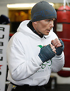 February 17, 2009; Bronx, NY;  Michael Jennings works out for his upcoming WBO Welterweight Championship bout against Miguel Cotto.  The two will meet at Madison Square Garden on February 21, 2009.