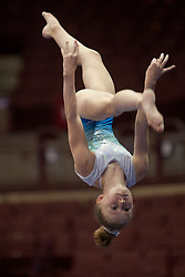 USA Gymnastics GK Classic - Schottenstein Center, Columbus, OH - July 28th, 2018.  An athlete competes on the beam at the Schottenstein Center in Columbus, OH; in the USA Gymnastics GK Classic in the senior division. Simone Biles won the allround with Riley McCusker second and Morgan Hurd third. - Photo by Wally Nell/ZUMA Press