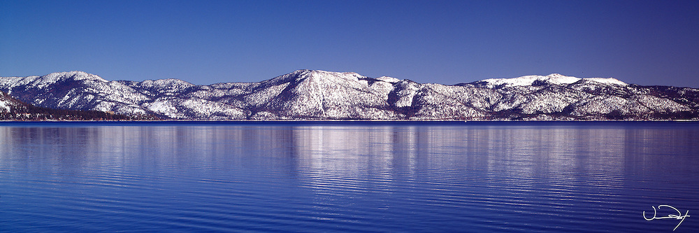 Lake Tahoe Scenic Winter Mountain Reflections