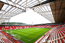 A general view of the Aesseal New York Stadium home to Rotherham United - Mandatory by-line: Ryan Crockett/JMP - 10/08/2019 - FOOTBALL - Aesseal New York Stadium - Rotherham, England - Rotherham United v Lincoln City - Sky Bet League One