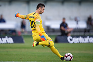 SYDNEY, NSW - FEBRUARY 24: Western Sydney Wanderers goalkeeper Vedran Janjetovic (20) kicks the ball at round 20 of the Hyundai A-League Soccer between Western Sydney Wanderers FC and Perth Glory on February 24, 2019 at Spotless Stadium, NSW. (Photo by Speed Media/Icon Sportswire)