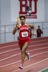 4x400 relay, Boston U, Aroke<br /> BU Terrier Indoor track meet
