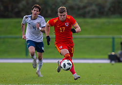 CARDIFF, WALES - Saturday, November 16, 2019: Wales' Daniel Griffiths during the UEFA Under-19 Championship Qualifying Group 5 match between Russia and Wales at the Cardiff International Sports Stadium. (Pic by Mark Hawkins/Propaganda)