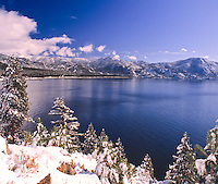 Lake Tahoe Scenic Crystal Bay Winter