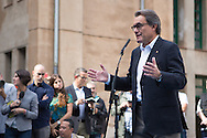 Current President of Catalonia, Artur Mas, votes in the Catalan elections, the polemic region of Spain that claims for Independence Call. Premier Artur Mas represents the Junts pel Sí (Toguether for Yes) party, a union of Convergence of Catalonia, ERC, and other pro-independence platforms. Depending of the results of these elections an Independent process of Catalonia could start.