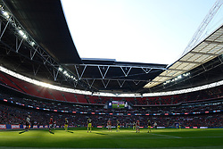 A general view of Wembley Stadium as Bristol City play Walsall in the Johnstone Paint Trophy final - Photo mandatory by-line: Dougie Allward/JMP - Mobile: 07966 386802 - 22/03/2015 - SPORT - Football - London - Wembley Stadium - Bristol City v Walsall - Johnstone Paint Trophy Final
