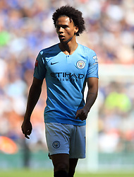 "Manchester City's Leroy Sane during the Community Shield match at Wembley Stadium, London. PRESS ASSOCIATION Photo. Picture date: Sunday August 5, 2018. See PA story SOCCER Community Shield. Photo credit should read: Adam Davy/PA Wire. RESTRICTIONS: EDITORIAL USE ONLY No use with unauthorised audio, video, data, fixture lists, club/league logos or ""live"" services. Online in-match use limited to 75 images, no video emulation. No use in betting, games or single club/league/player publications."