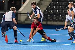 Hampstead & Westminster v Southgate - Pre-season, Lee Valley Hockey and Tennis Centre, London, UK on 13 September 2018. Photo: Simon Parker