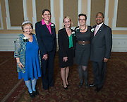 2015 Outstanding Administrator Award Winners with Administrative Senate Chair Cathy Waller (Left) and President Roderick McDavis (RIght).