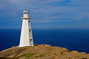 Lighthouse on Atlantic Ocean<br /> Cape Spear<br /> Newfoundland<br /> Canada
