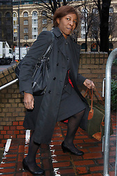 © licensed to London News Pictures. London, UK 30/01/2014. Constance Briscoe, the barrister and part-time judge who is accused of perverting the course of justice in connection with the Chris Huhne case, arriving at Southwark Crown Court in London on 30 January 2014. Photo credit: Tolga Akmen/LNP