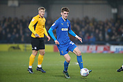AFC Wimbledon Jack Rudoni (12) dribbling during the EFL Sky Bet League 1 match between AFC Wimbledon and Southend United at the Cherry Red Records Stadium, Kingston, England on 1 January 2020.