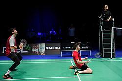 DK:<br /> 20190209, &Aring;rhus, Danmark:<br /> Badminton Danmark FZ Forza/RSL DM 2019. <br /> Herre Double: Guldvindere Lasse M&oslash;lhede og Mathias Bay-Schmidt vs. David Daugaard og Frederik S&oslash;gaard<br /> Foto: Lars M&oslash;ller<br /> UK: <br /> 20190209, Aarhus, Denmark:<br /> Badminton Danmark FZ Forza/RSL DM 2019.<br /> Herre Double: Guldvindere Lasse M&oslash;lhede og Mathias Bay-Schmidt vs. David Daugaard og Frederik S&oslash;gaard<br /> Photo: Lars Moeller