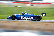 Tyrell 44 heads around Luffield. Silverstone Classic - 66-85 F1- 25/7/10.