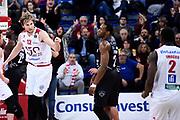 Mika Eric Sutton Dominique<br /> Victoria Libertas Pesaro - Dolomiti Energia Trentino<br /> Lega Basket Serie A 2017/2018<br /> Pesaro, 25/03/2018<br /> Foto A.Giberti / Ciamillo - Castoria